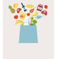 Food elements bag vector image