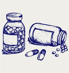 Pill bottle vector image vector image