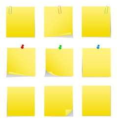postit notes vector image vector image