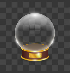 celebration snow globe object on a transparent vector image vector image