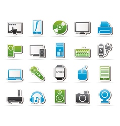home electronics and personal multimedia devices vector image vector image