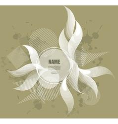 Ornamental curl sketchy background vector image