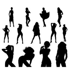 Sexy girls vector image