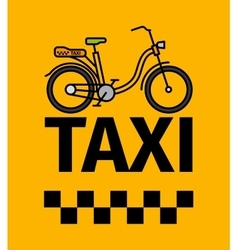 Bicycle taxi transport poster vector image