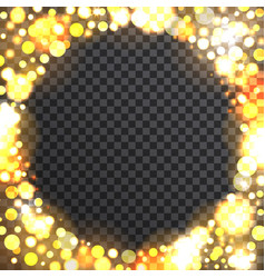 bokeh round frame on transparent background vector image vector image