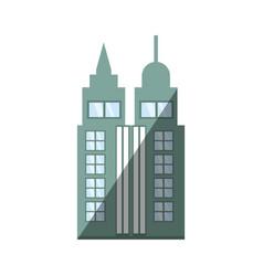 Building skyscraper city shadow vector