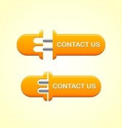 Contact us button vector