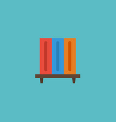flat icon bookshelf element vector image