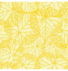 Seamless pattern with stylized autumn leaves vector image vector image