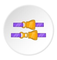 Seat belt icon cartoon style vector image