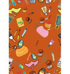 cosmetic seamless background vector image vector image