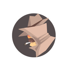 disguised detective character avatar vector image vector image