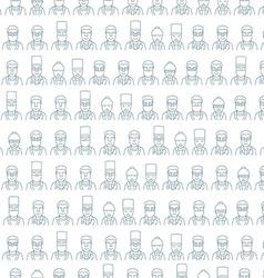Line art face men pattern character doctor vector image