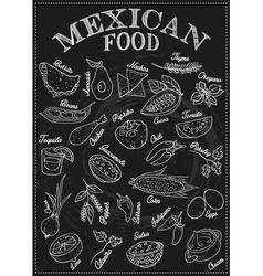 Mexican Food Icon Set vector image vector image
