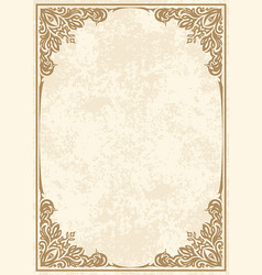 retro-styled frame vector image vector image
