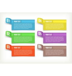 Text and banner paper vector image