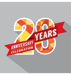 28th Years Anniversary Celebration Design vector image