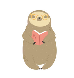 a cute funny sloth with vector image
