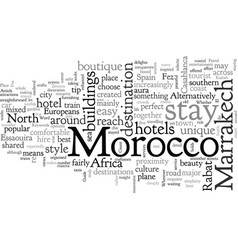A quick guide to morocco vector