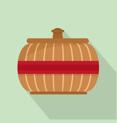 asia vase icon flat style vector image