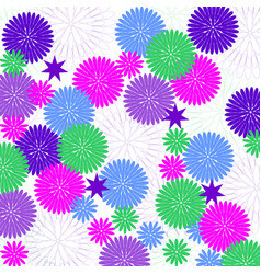Background with decorative flowers vector