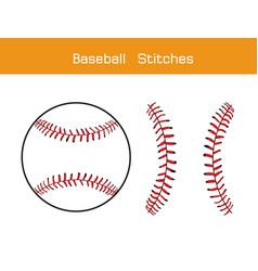 Baseball stitches on a white background design vector