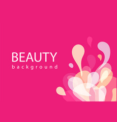 beauty background fashion abstract formless vector image