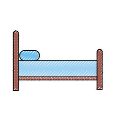 bed silhouette isolated icon vector image