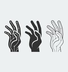 Bionic hand concept vector