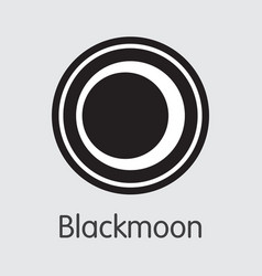 blackmoon cryptographic currency bmc vector image