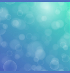 Bokeh texture on a two-tone blue-green background vector