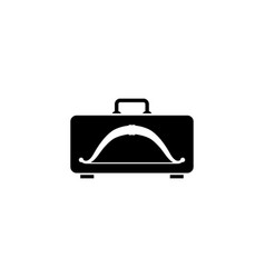 Bow in the case flat icon vector