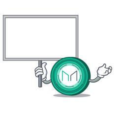 Bring board maker coin character cartoon vector
