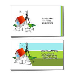 business card for geodesy and cadastre vector image