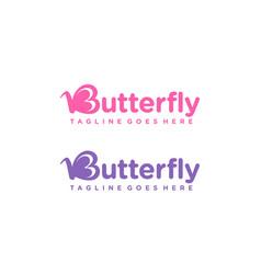 Butterfly for logo design editable vector