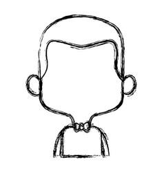 cartoon man face avatar character male cute vector image