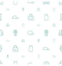 Casual icons pattern seamless white background vector