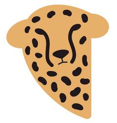 Cheetah head wild animal logo vector