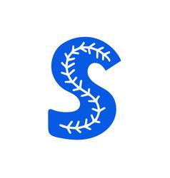 Creative letter s with folk motives - scandinavian vector