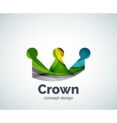 Crown logo template vector