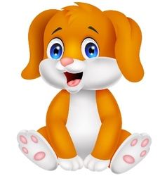 Cute baby dog cartoon vector image