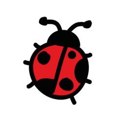 cute ladybug drawing isolated icon vector image