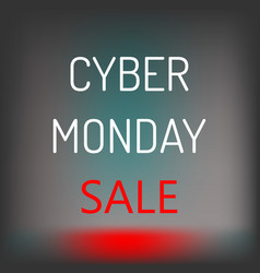 Cyber monday sale background vector