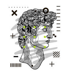 david sculpture modern geometric style with dots vector image