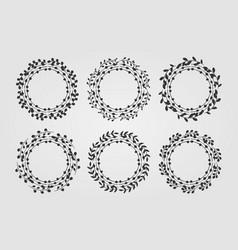 decorative floral ornaments set vector image