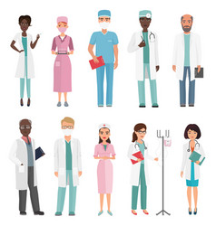 doctors nurses and medical staff medical team vector image
