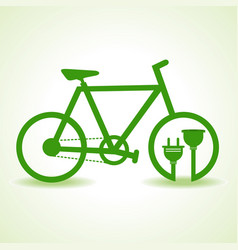 eco bicycle with plug and holder stock vector image