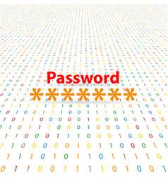 Enter a secret security password on a digital vector