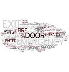 Exit word cloud concept vector