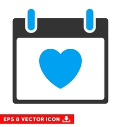 Favourite Heart Calendar Day Eps Icon vector image